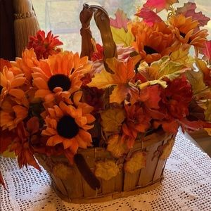 Basket of Fall Flowers!